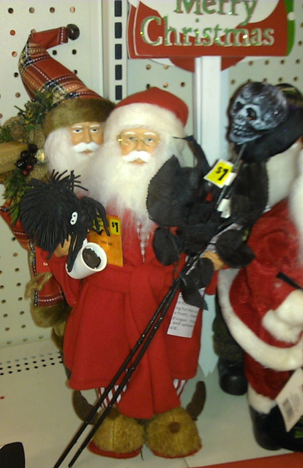Santa At The Dollar Tree