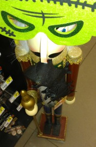 The Nutcracker At Dollar General With A Mask And A Bat