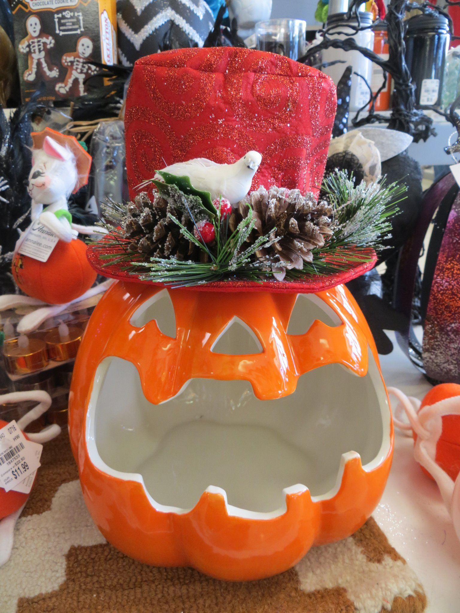 Pumpkin Candy Container